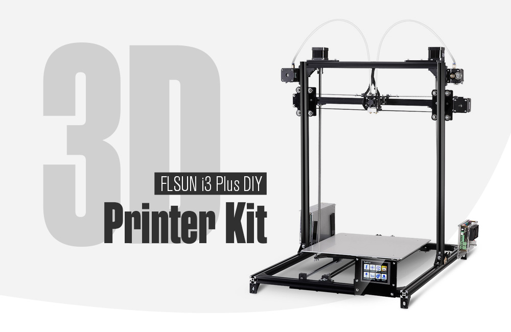 FLSUN i3 Plus Touch Screen Dual-extruder DIY 3D Printer Kit