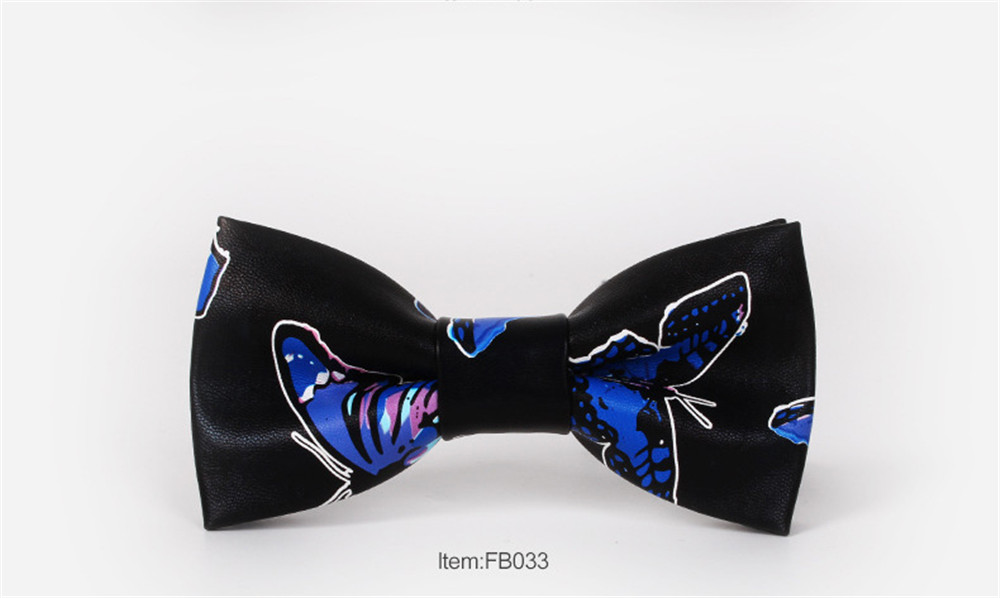 PU Leather Bow Tie for Men