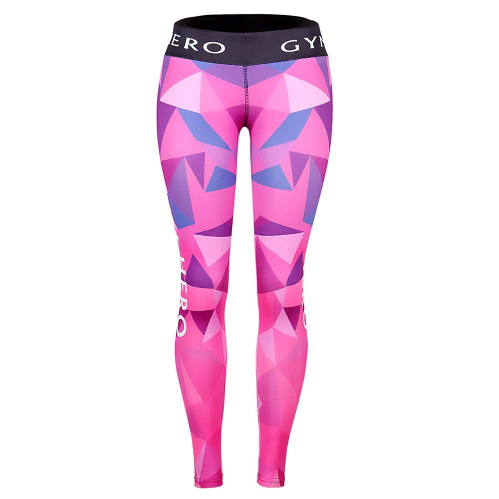Fitness Yoga Sport Pants Printed Stretch Point Leggings