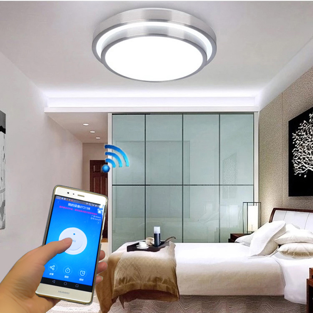 JIAWEN W Wifi LED Ceiling Light Cool White Natural White - Cool led lights for bedroom
