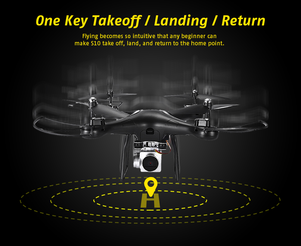 S10 WiFi FPV Remote Control RC Drone RTF 480P Camera / Headless Mode / One Key Return