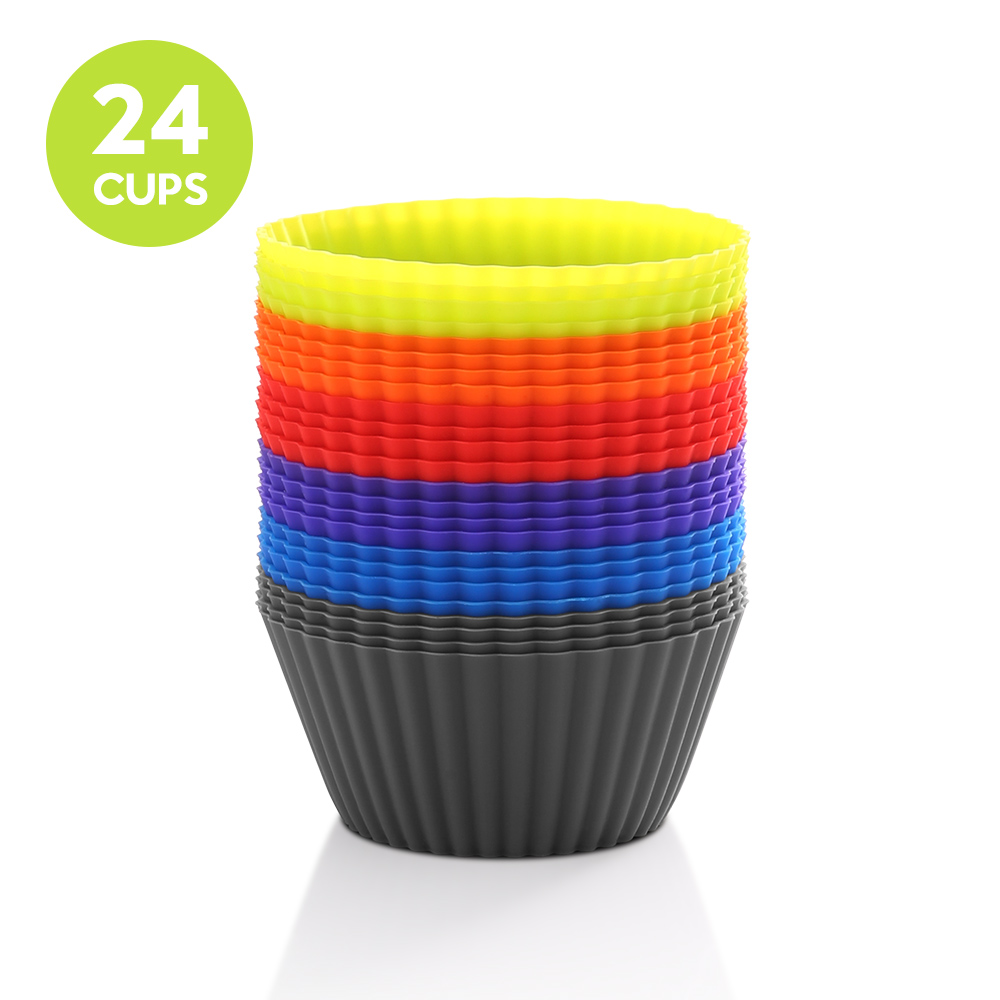 zanmini ZETC24 Cupcake Mold Set of 24- Colorful