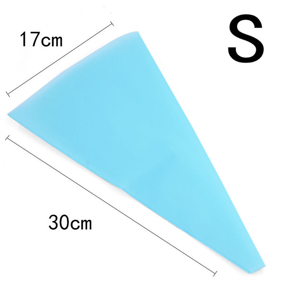 30cm Silicone Reusable Icing Piping Cream Pastry Bag Cake Decorating Tool DIY MX