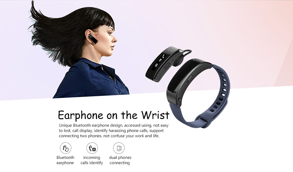 HUAWEI B3 Lite Bluetooth 4.2 Original Chip Smartband Earphone Design Find Phone Sleep Monitor Remote Music for iOS / Android Phones