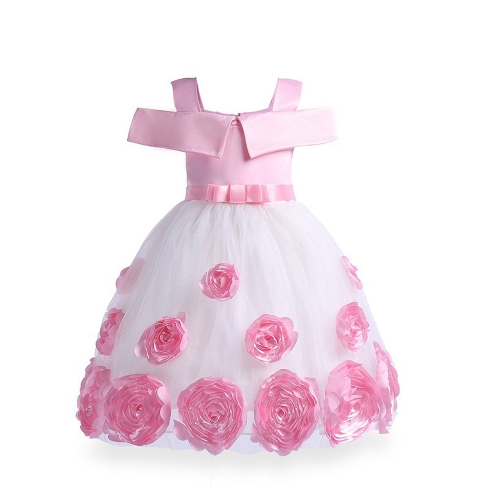 e25f0e9c16d Autumn Winter Baby Girls Christmas Party Lace Tutu Dress Rose Embroidery  Costume Princess Clothes For Girl