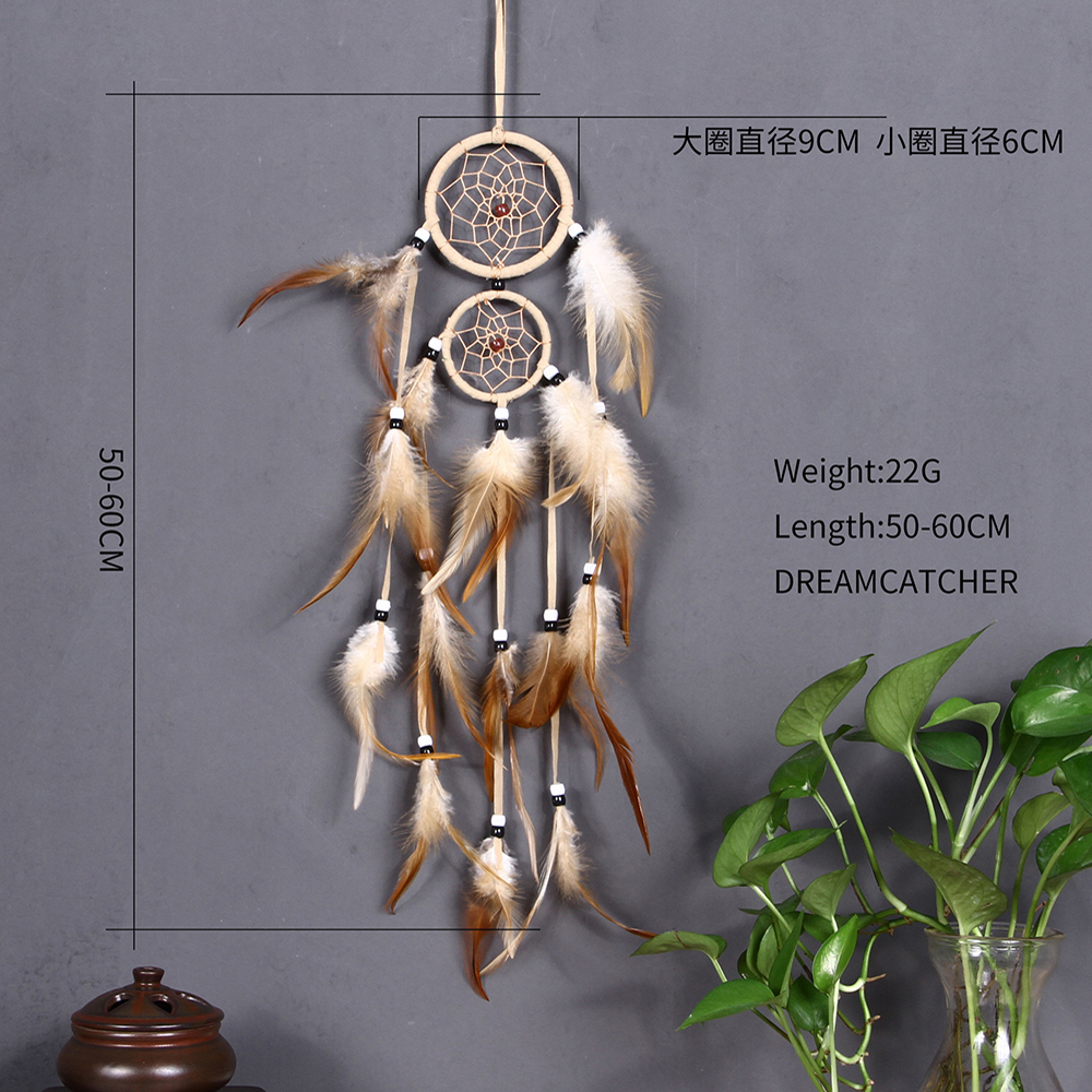 9c627bd0b7c vintage home decoration Indian style feather dream catcher circular  feathers wall hanging dreamcatchers decor for car