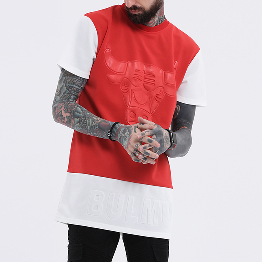Men's Cotton Strip Short-Sleeve Hip Hop T-Shirts