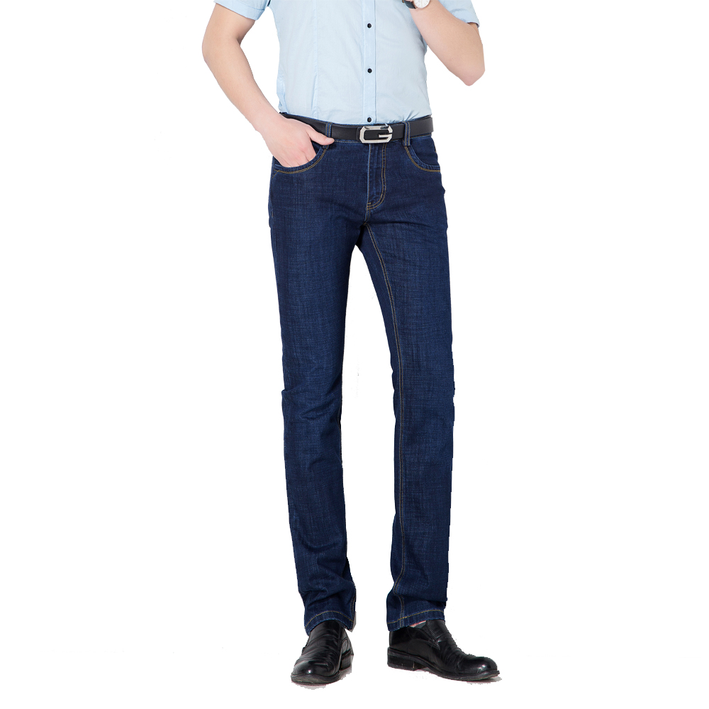 Business Casual Pockets Zipper Fly Straight  Jeans