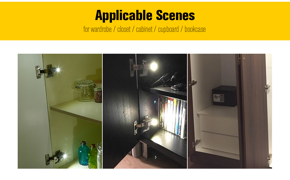 Package Contents: 1 X Cabinet Hinge LED Light
