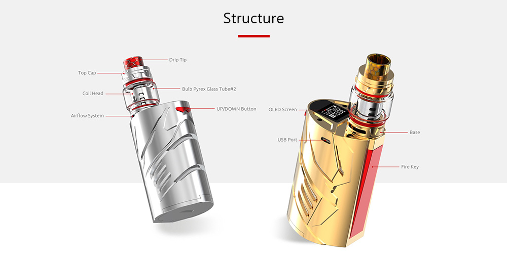 SMOK T - Priv 3 Kit 200 - 600F / 6 - 300W / Supporting 3pcs 18650 Batteries / 8ml for E Cigarette