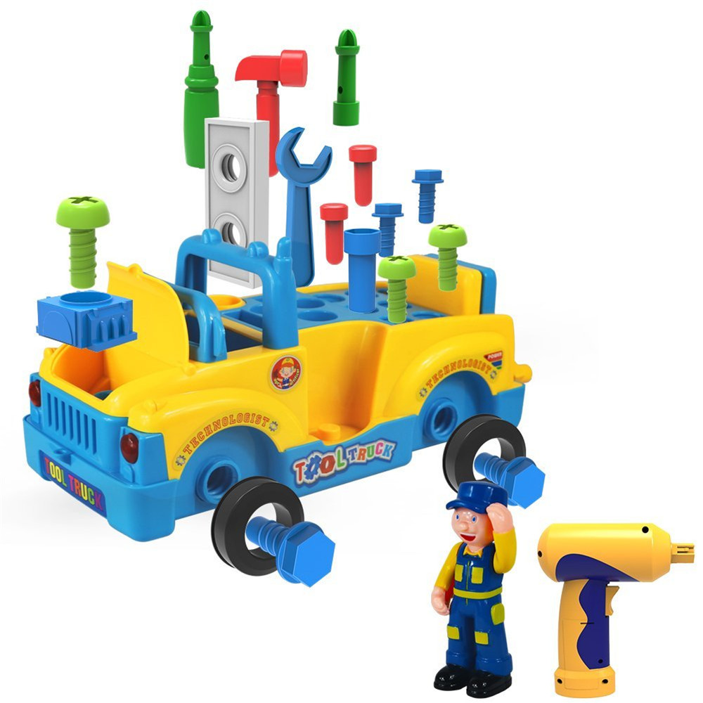 Construction Vehicle Toys For Boys : Truck take apart toys for boys girl with electric drill