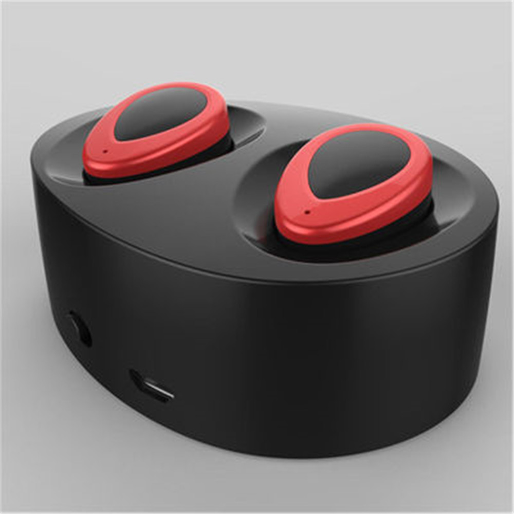 Bluetooth Dual Wireless Earbuds True Mini Twins Stereo Bluetooth Headset V4.1 Earphones with Built-in Mic and Charging C