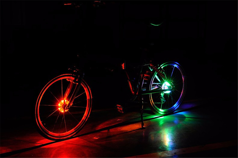 LEADBIKE Bicycle Hubs Lamp Bike LED Spoke Wheel Warning Light Waterproof Cycling Accessories for Night Riding