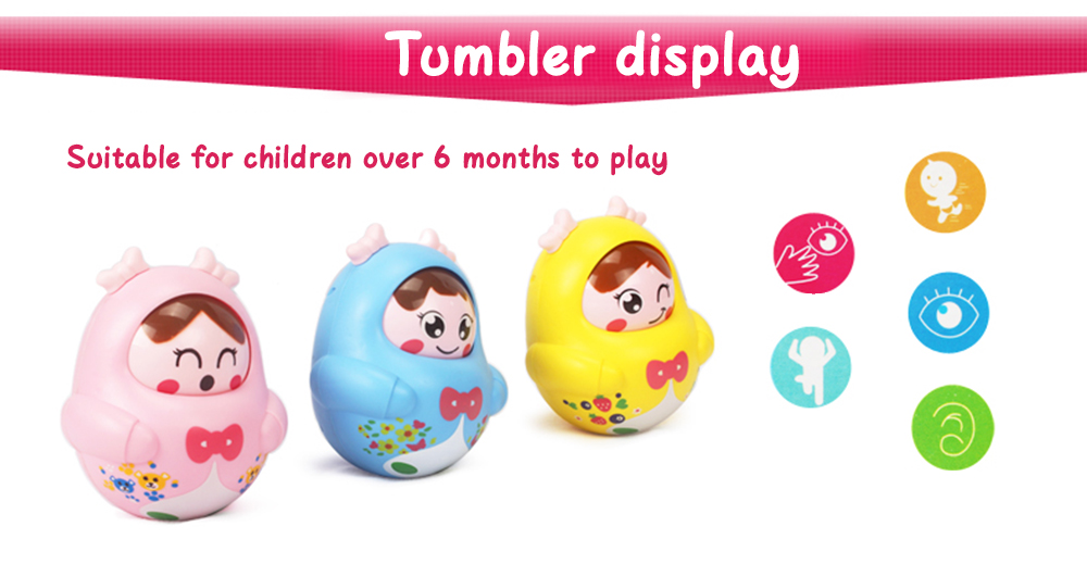 Cartoon Girl Image Doll Roly-poly Intelligent Toy for Children