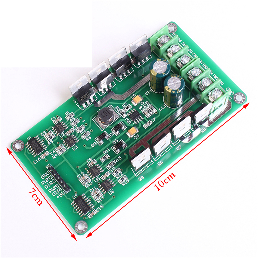 10a Dual Channel Motor Driver Board Module High Power H Bridge Dc 3 The N Type Mosfet Irf3205s Can Be Replaced With Different Types Of Package Contents 1 X Mode
