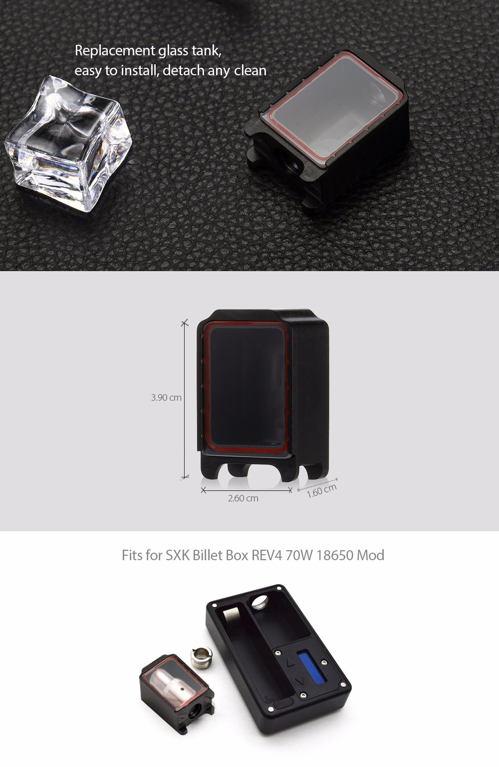 Tank for SXK REV4 70W 18650 Mod