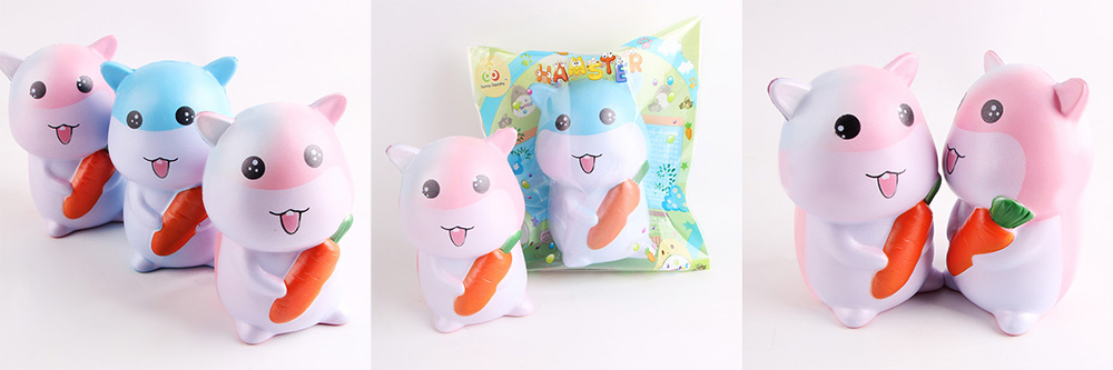 Squishy Squeeze Stress Relief Hamster PU Toy Decoration 1pc