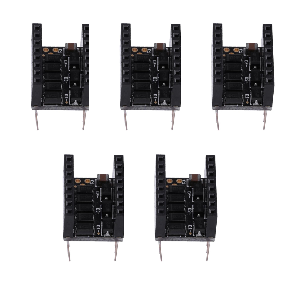 5pcs 3D Printer Parts Silent Step Stick Protector Smoother Stepper Motor  Drives MKS-Smoother Module for Stepper Driver
