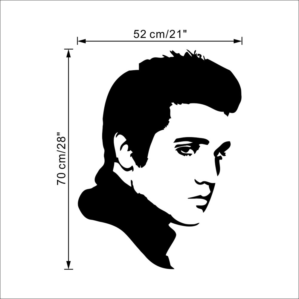 Character Modeling Wall Stickers Elvis-4  Waterproof Removable Home Decal
