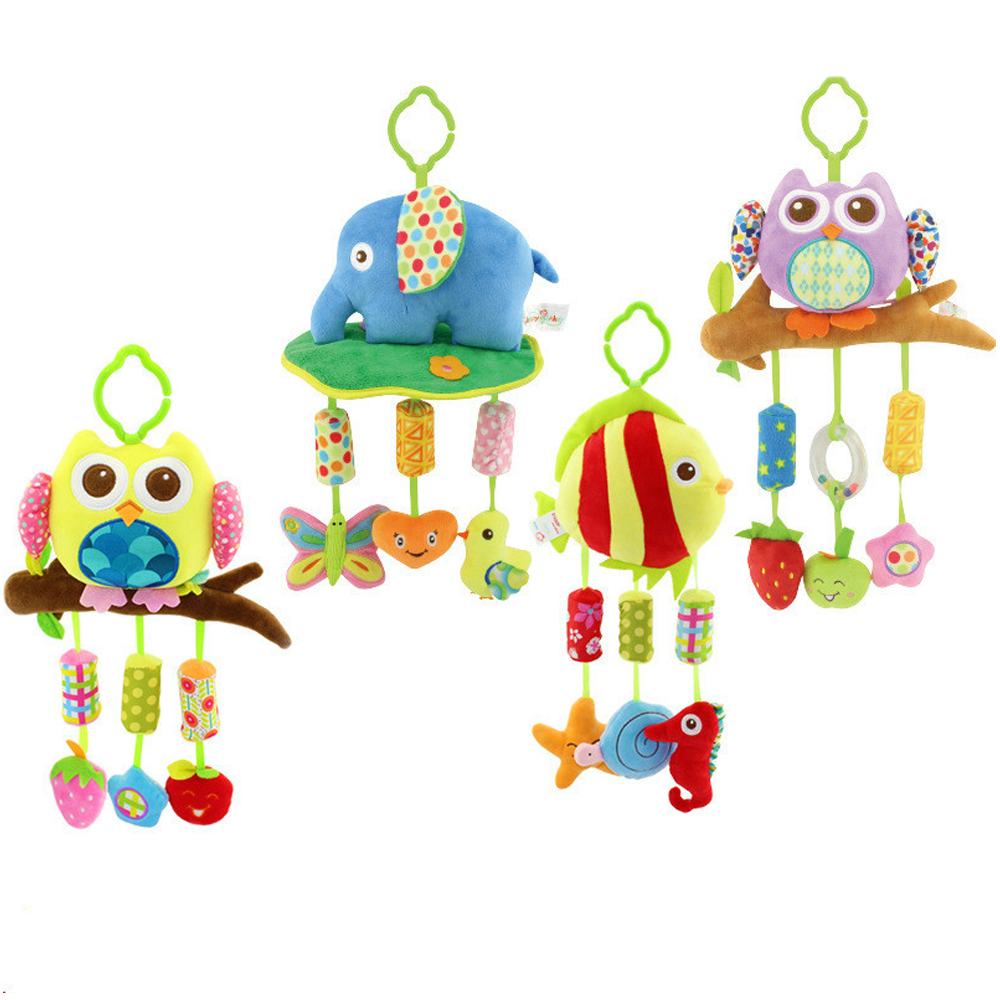 Happy Monkey Baby Bed Bell Owl Hanging Sound Toy