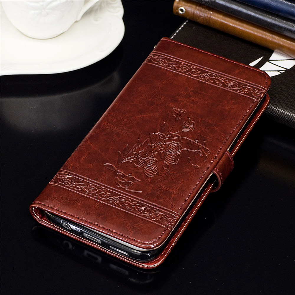 for HTC M7 Case Cover Embossed Oil Wax Lines Phone Case Cover PU Leather Wallet Style Case