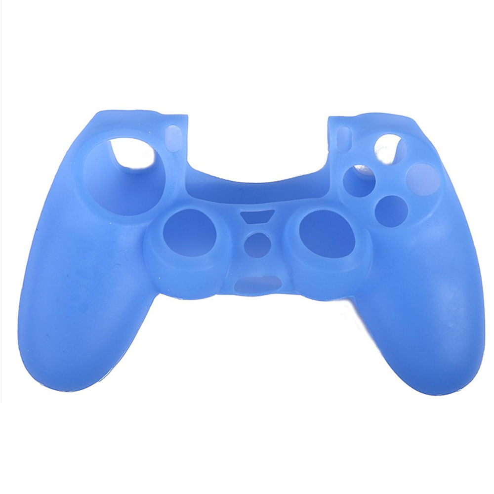 PS4 Controller Skin Silicone Rubber Protective Grip Case for Sony Playstation 4 Wireless Dualshock Game Controllers- Blue