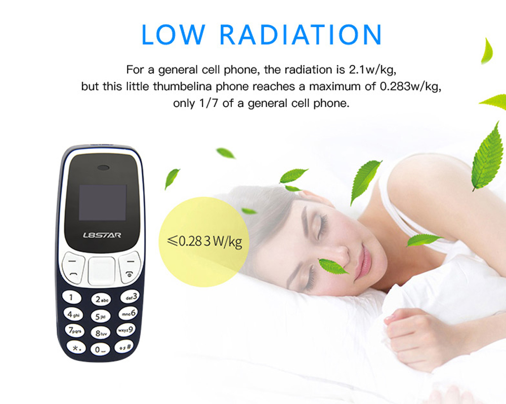 L8STAR BM10 Mini Quad Band Unlocked Phone Bluetooth Dialer Low Radiation Dual Card