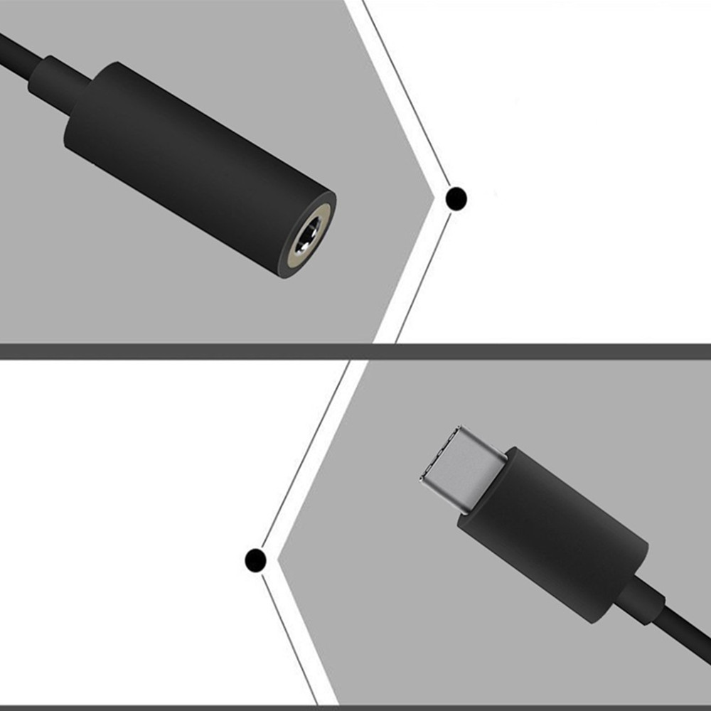 Type C To 3 5mm Headphone Jack Adapter 1 Male Female Stereo