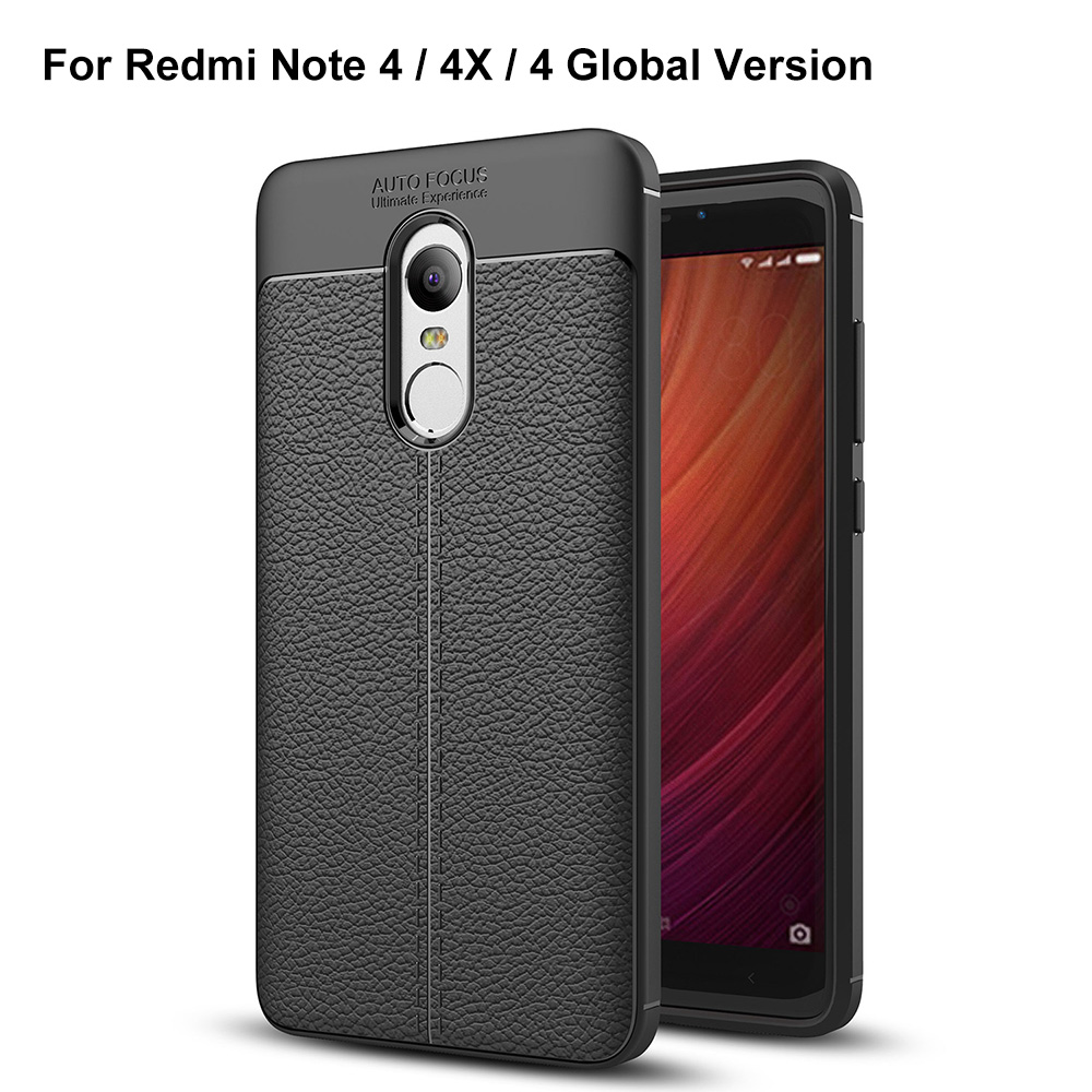 buy online 47dec 52df0 Lichee Skin Anti-drop Cover Case for Xiaomi Redmi Note 4 Global Version /  Redmi Note 4X / Redmi Note 4