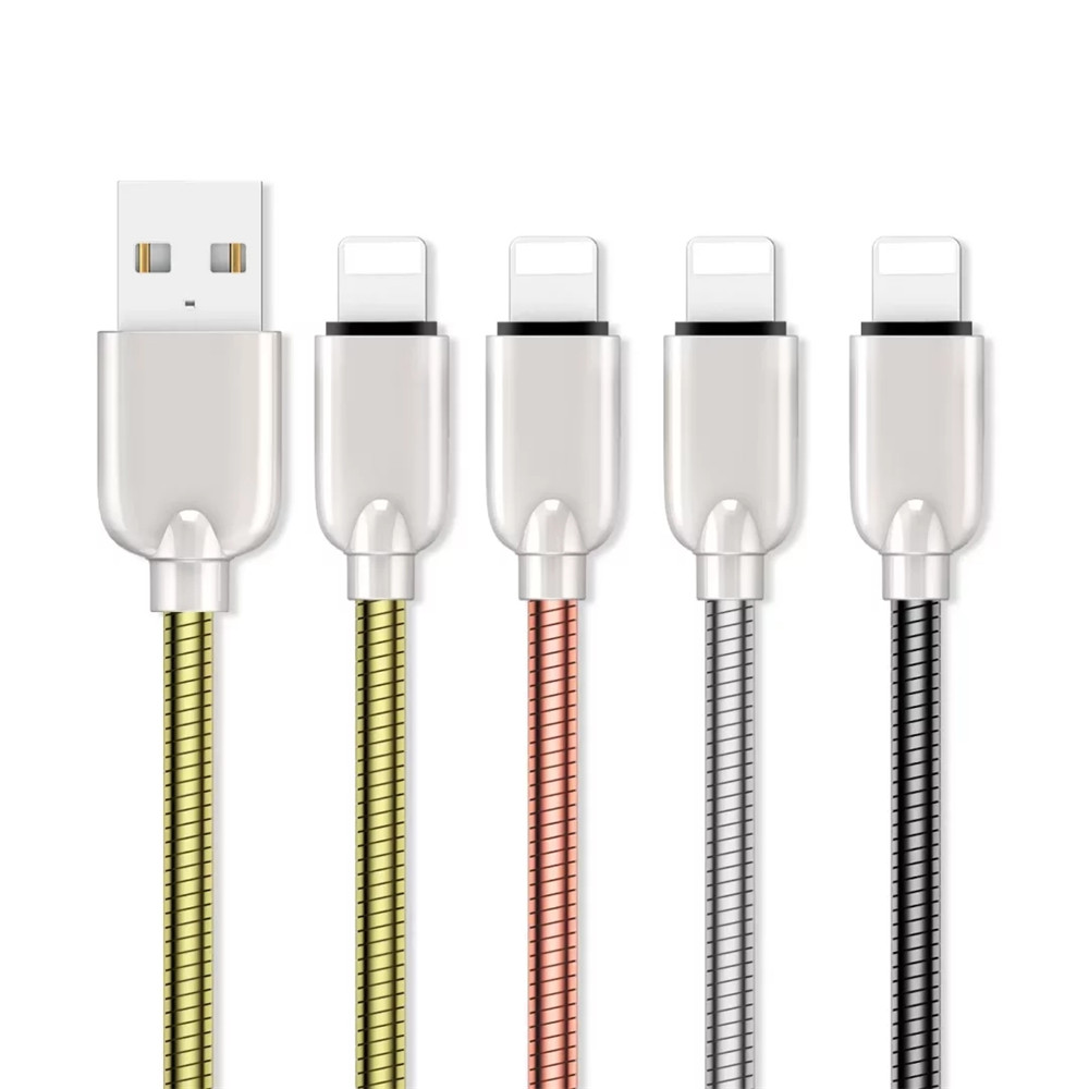 1M Zinc Alloy Fast Charging Data Sync Charger Cable for iPhone