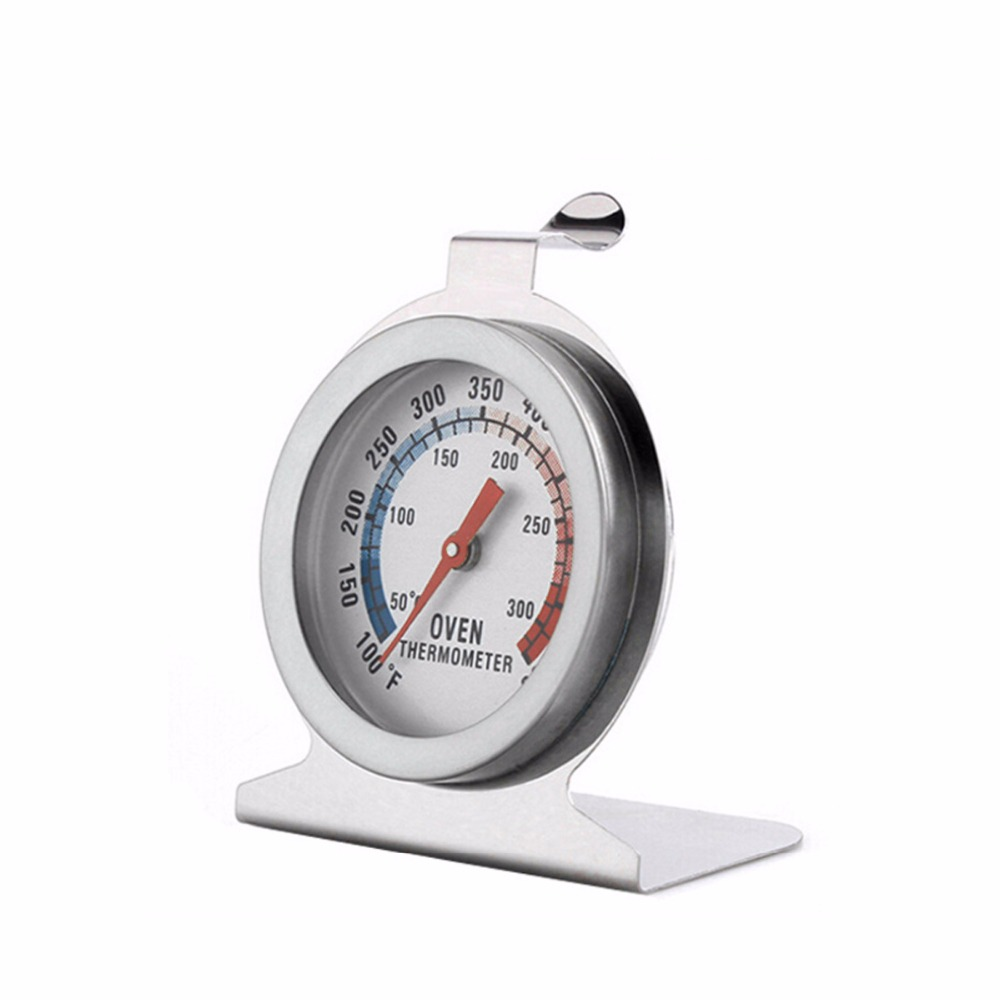 Stainless Steel Cooking Oven Dual Scale Thermometer Food Meat Gauge