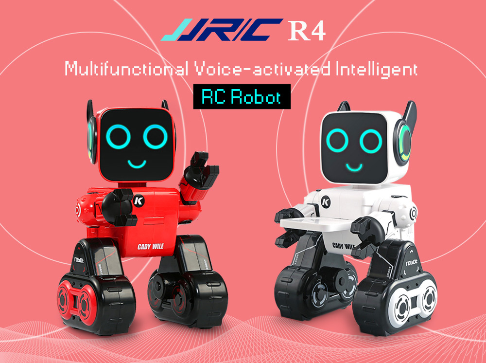 JJRC R4 Multifunctional Voice-activated Intelligent RC Robot- White