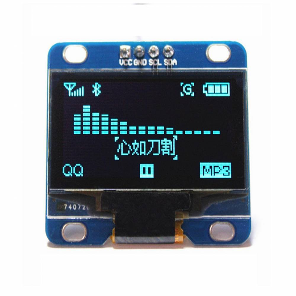 096 Inch Blue I2c Iic Serial 128x64 Oled Lcd Led Display Module For Squishy Circuits Deluxe Kit Robotshop Arduino