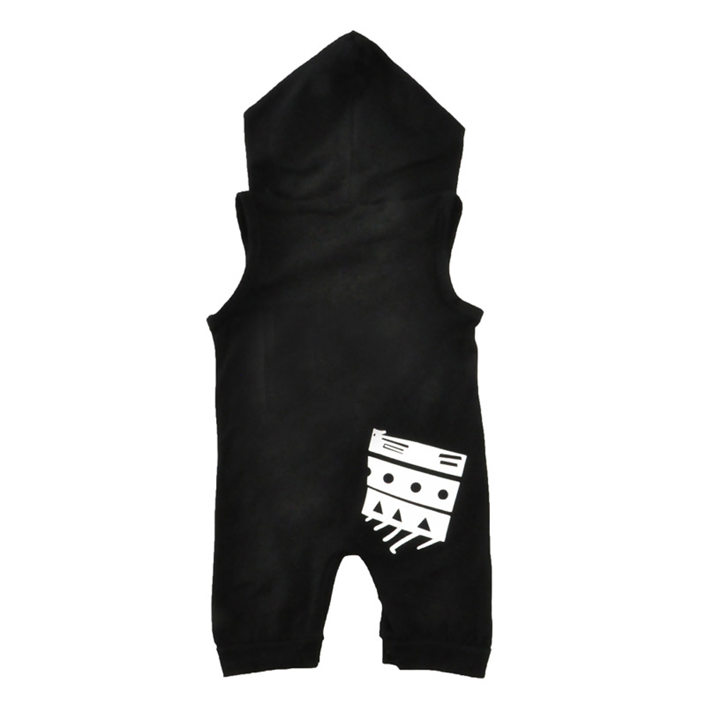 SOSOCOER Newborn Infant Bodysuits Monogrammed Sleeveless Hooded Romper