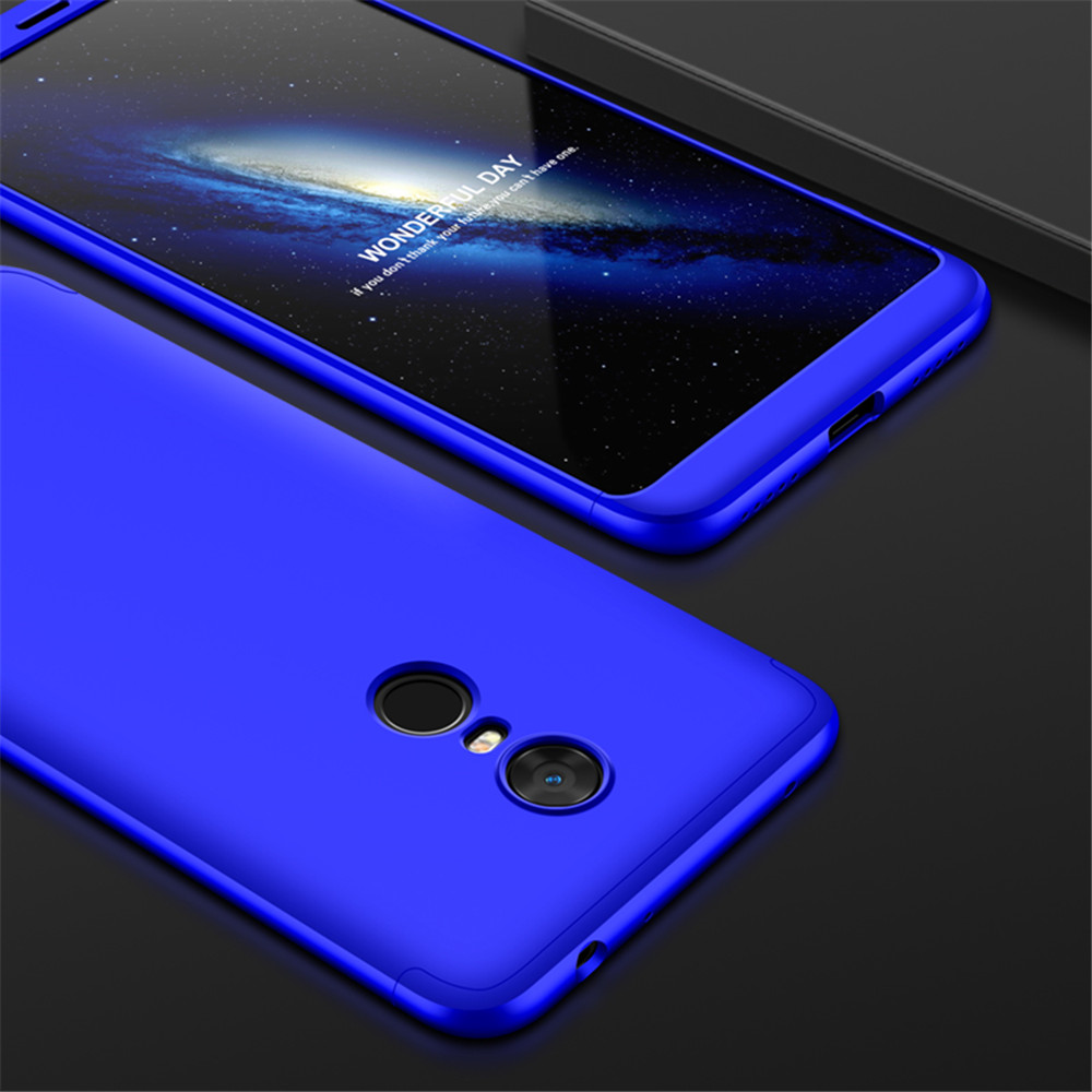 premium selection d03a5 882ab Cover Case for Redmi 5Plus 360 Degree Full Protection Hard PC 3 in 1 Fundas  Coque Back