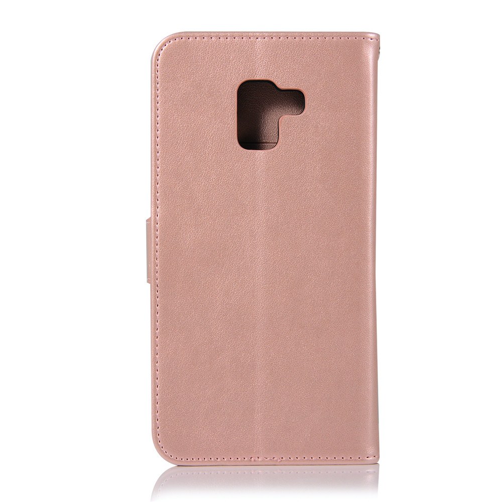 Owl Campanula Fashion Wallet Cover For Samsung Galaxy A8 Plus 2018 Phone Bag With Stand PU Extravagant Flip Leather Case