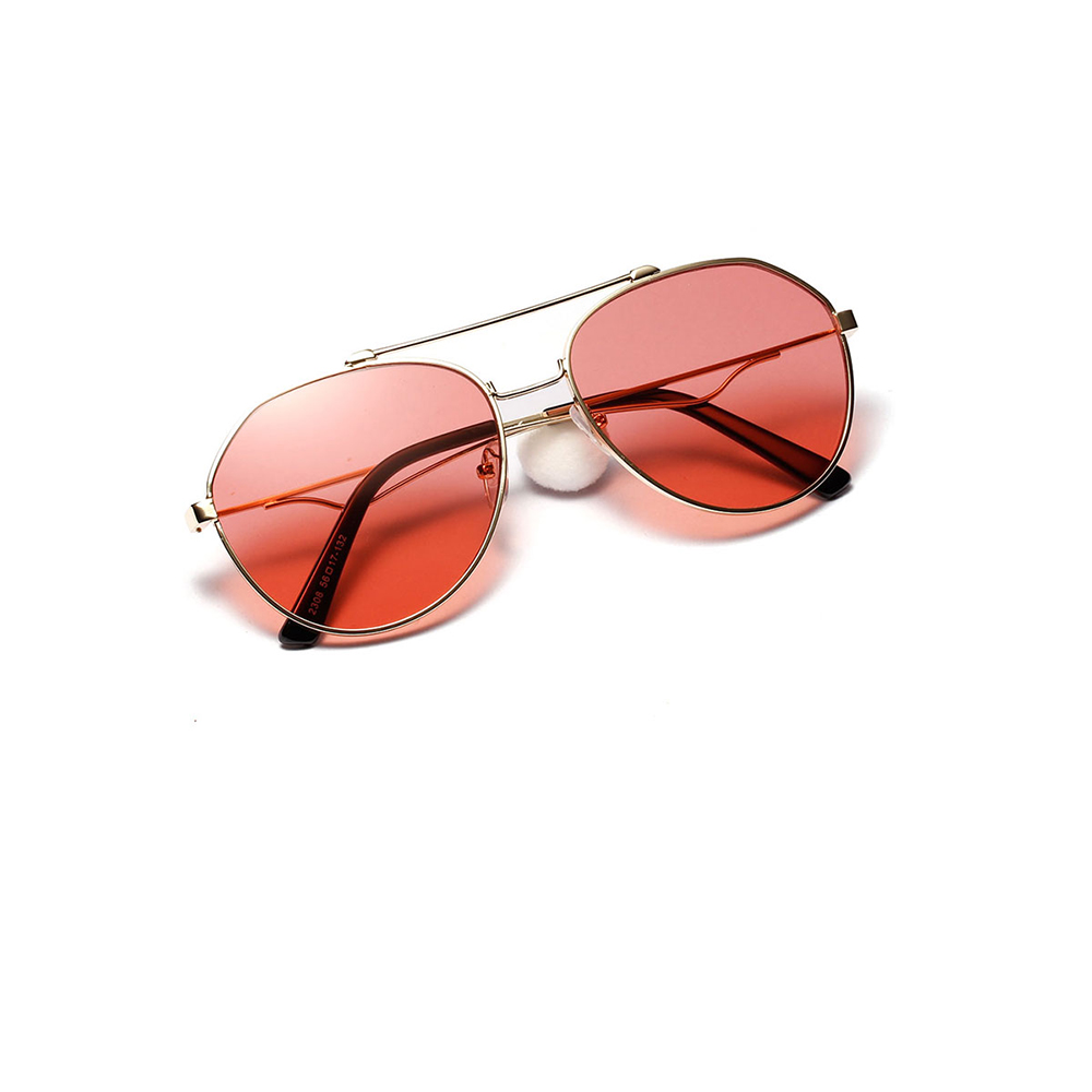 Stainless Steel Sunglasses Male Metal Transparent Colored Toad Glasses Female European and American Sunglasses