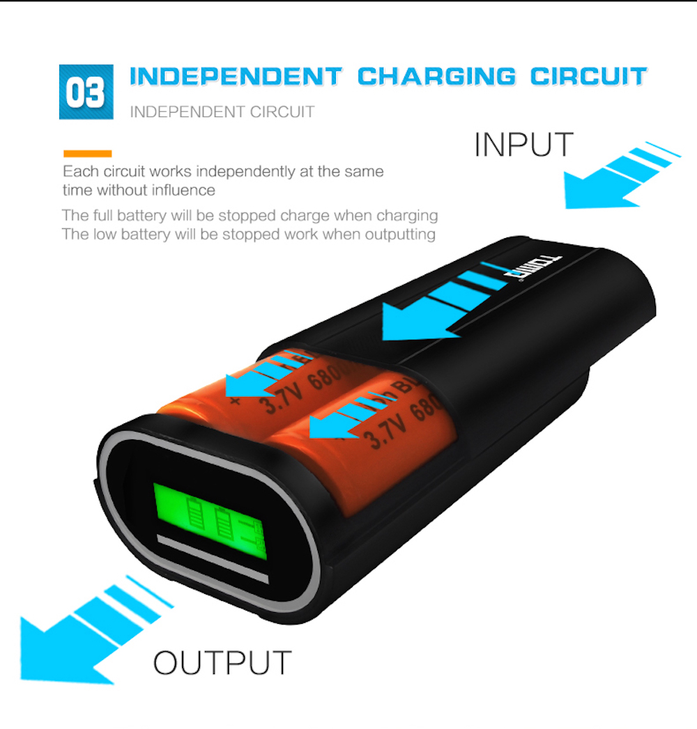 TOMO D2 Authentic Smart Battery Charger 2 x 26650