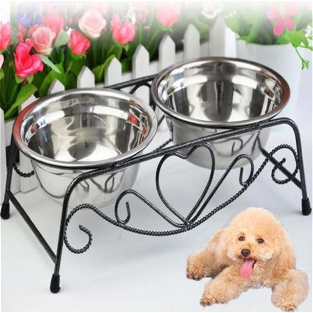 Set of Stainless Steel Pet Bowls