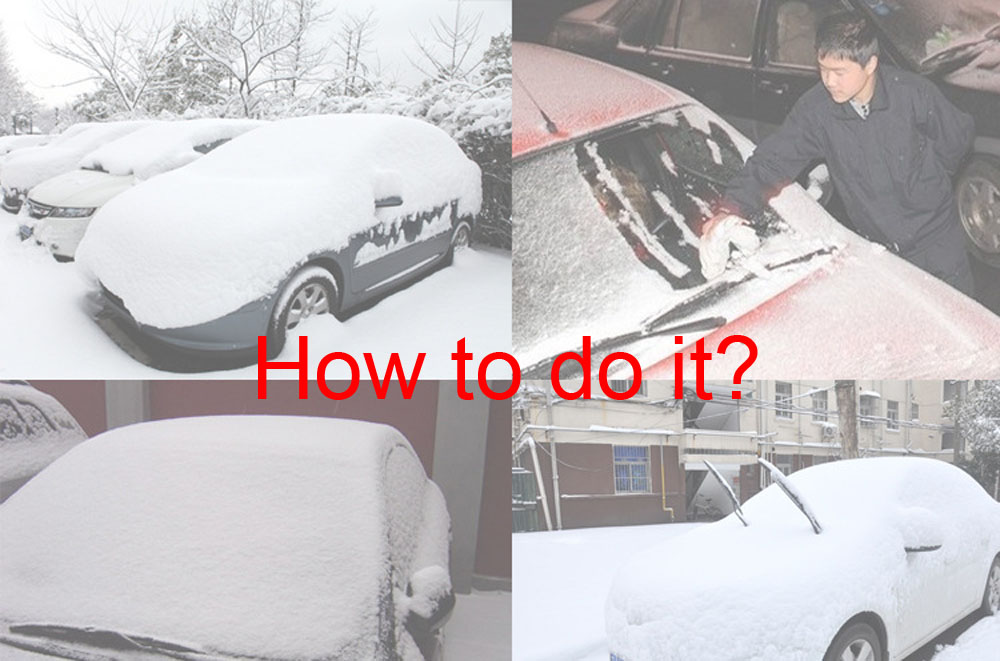 Snow in Winter Gloves Gloves Type Snow Removing Tool Scraping Plates Auto Glass Deicing Shovel Snow Brush