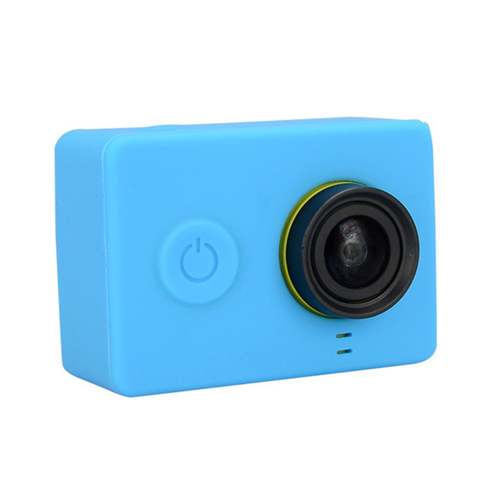 1 x Lens Cap Sports Camera /& Accessories Protective - - 1 x Cover Silicon Soft Protective Case Cover for 4K Mini Sport Camera with Lens Blue
