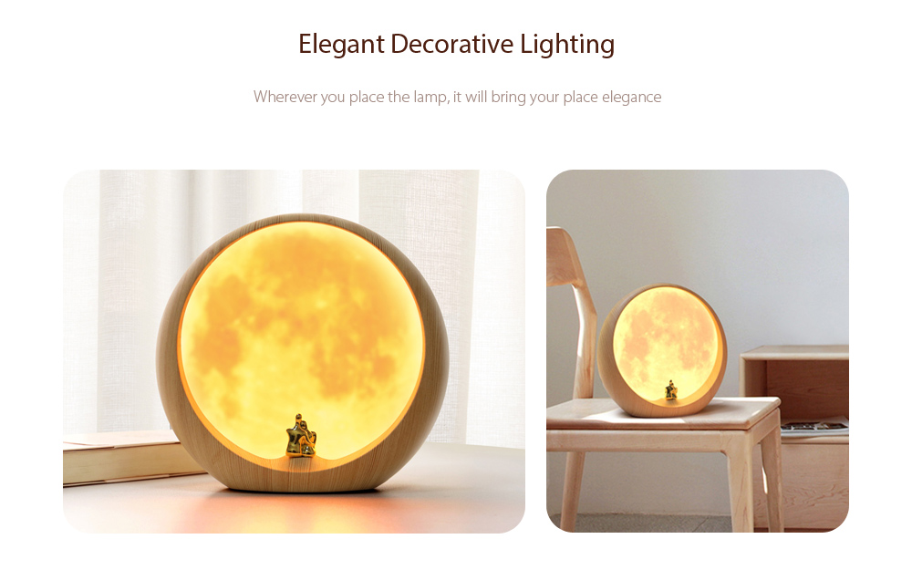 YouOkLight 3W DC 5V Warm White Faint Moon Atmosphere LED Lamp USB Charging Bedroom Bedside Creative Gift