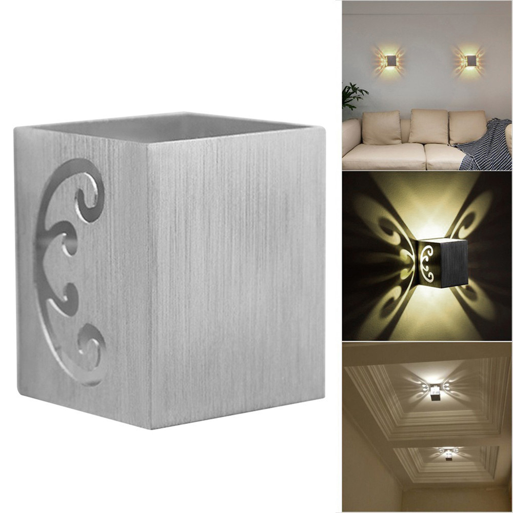 3w Butterfly Led Wall Lamps Sconce Aluminum Wall Mounted Sconce