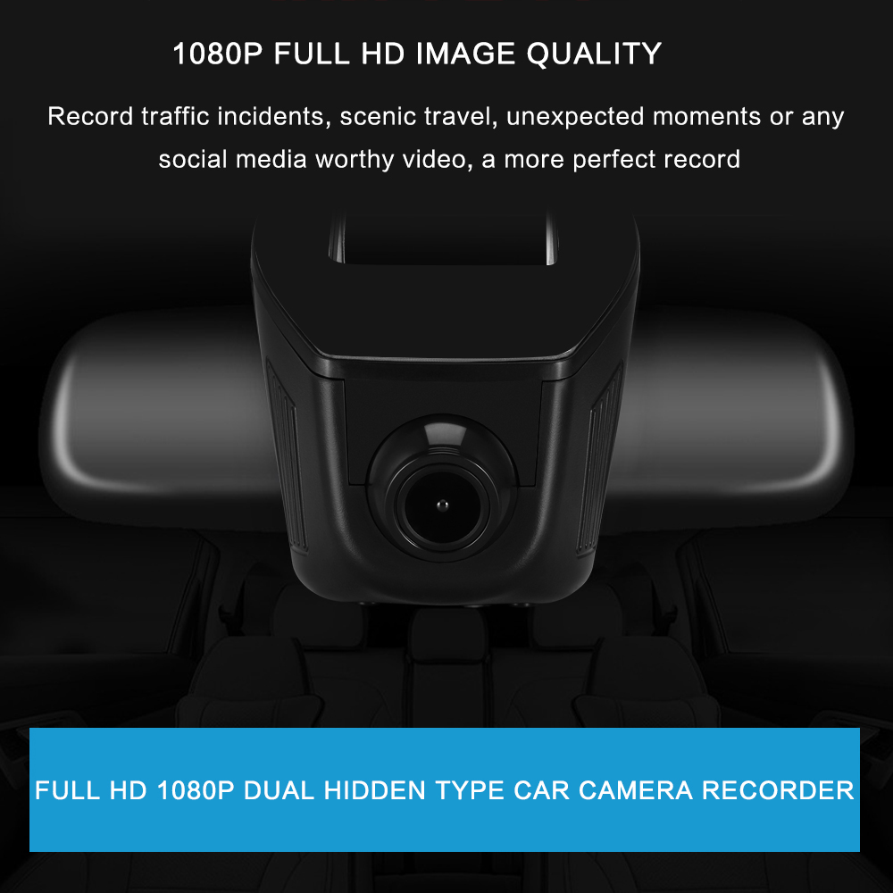 1080P Car DVR Camera Monitor Hidden Video Recorder Full HD Motion Detection/G-sensor/Cyclic Recording/Parking Monitor