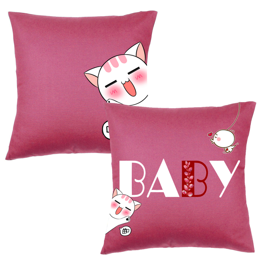 Cartoon Cute Cat Pattern Bedroom Pillow Covers - $6.32 Free Shipping ...