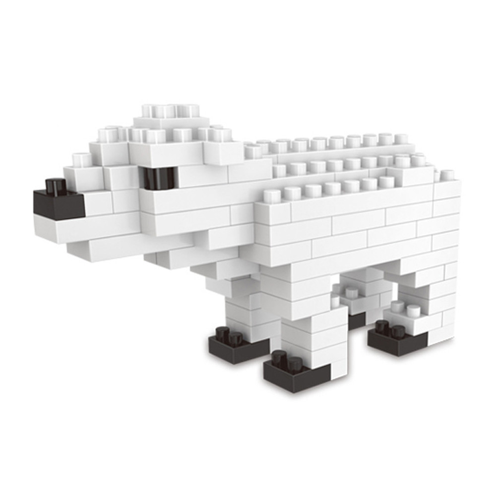 Creative Polar Bear Small Particles Assembled Puzzle Building Blocks Toy