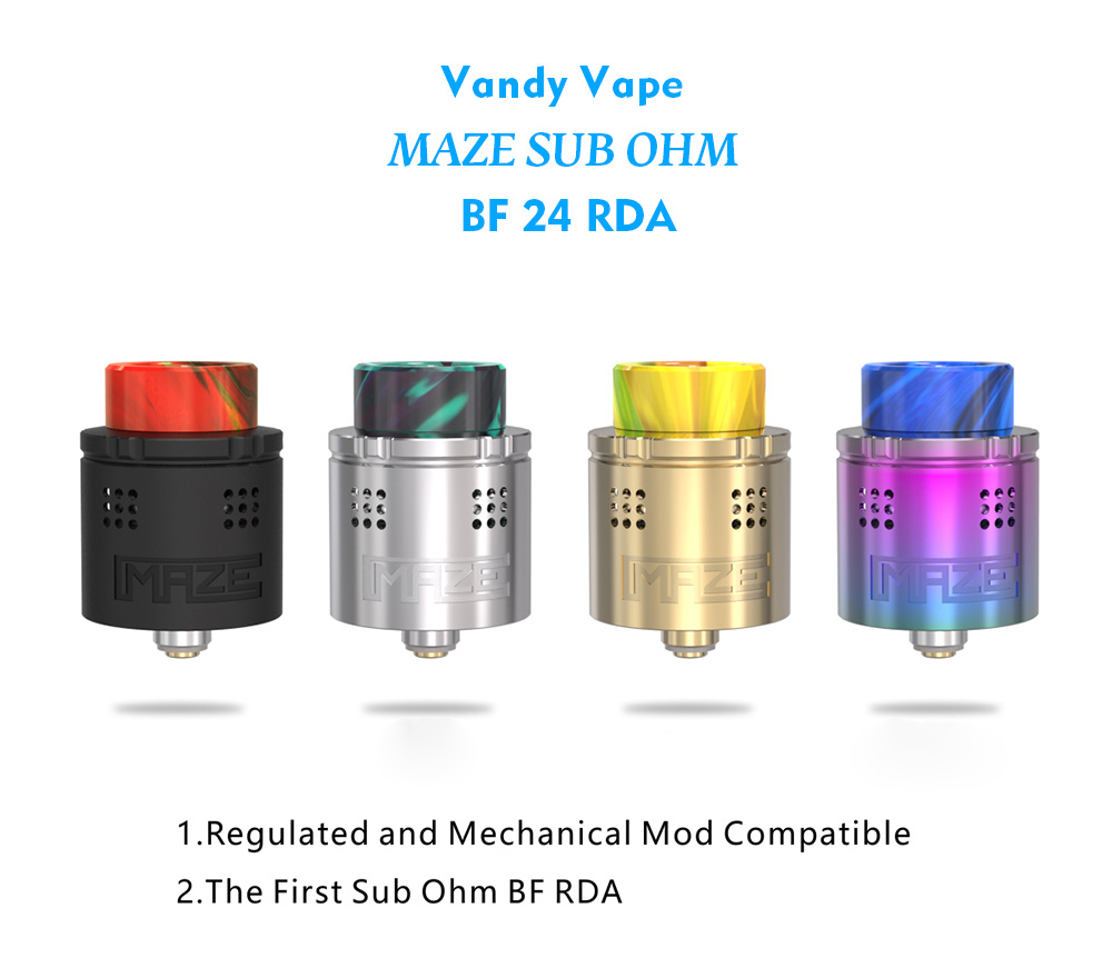 Vandy Vape MAZE SUB OHM BF 24 RDA - 2ml with Smooth Airflow for E Cigarette