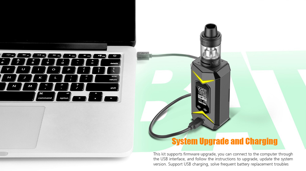 OBS Bat Kit with 7 - 218W / 200 - 600F / 5ml / Supporting 2pcs 18650 Batteries for E Cigarette