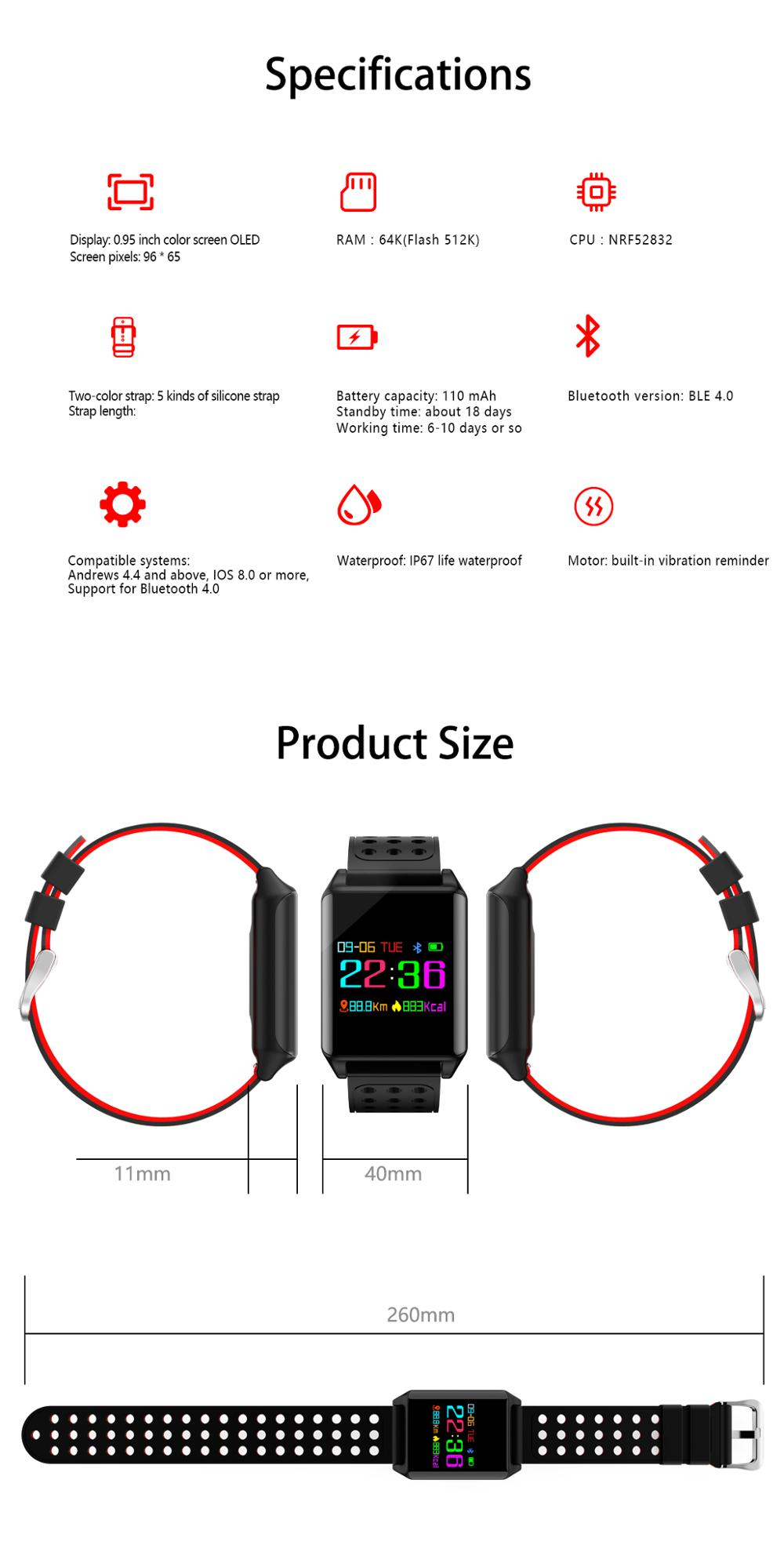 Smart Watch r11 Touch Screen Wearable Devices Heart Rate Monitor for Android IOS Smart Electronics IP67 Sport Watch