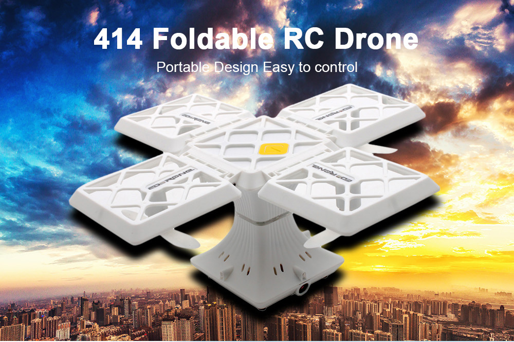 414 Foldable Square RC Drone APP Control / Altitude Hold / Headless Mode / 360-degree Flip / One Key Return